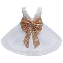 JiaDuo Baby Girl Lace Mesh Tutu Dress Sequin Bow Toddler Princess Gown W... - $28.36