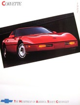 1987 Chevy Corvette ORIGINAL Dealer Brochure Sheet, GM NOS Xlnt 87 - $10.88