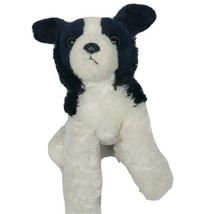 "Aurora Border Collie Puppy Dog Black White Plush Stuffed Animal 2016 12.5"" - $14.54"