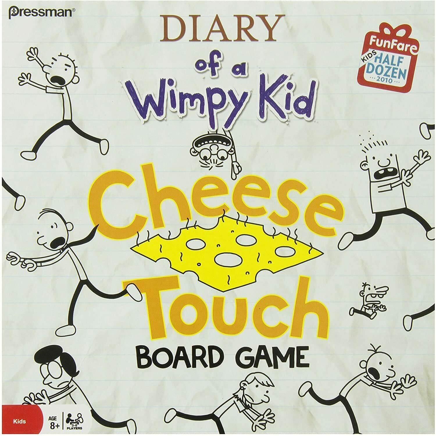 Primary image for Diary Of A Wimpy Kid Cheese Touch Board Game Pressman 2010 New Sealed