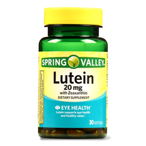 Spring Valley Lutein 20mg with Zeaxanthin, Eye Health, 30 softgels - $16.92