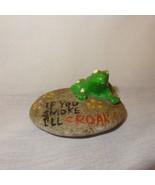 "Vintage Frog on Rock If You Smoke I'll Croak Flowers 1"" - $9.89"