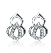 Fashion 925 Sterling Silver gourd studs earrings for women Jewelry - $7.89