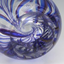 "Vintage Kosta Glass Sigurd Persson Thick Walled ""Tendril"" Vase image 6"
