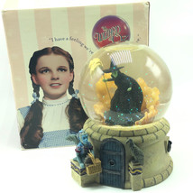 WIZARD OZ MUSIC BOX San Francisco Wicked Witch West waterglobe snowglobe... - $292.05