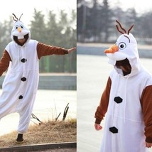 New Disney Olaf Frozen Adult Snowman Costume Kigurumi One-piece Pajamas ... - $32.99