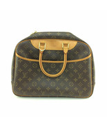 93357 Louis Vuitton Brown Monogram Canvas Leather Deauville Satchel Hand... - $555.38