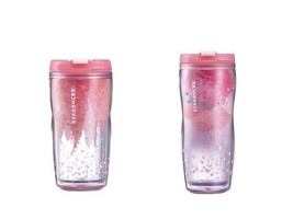 Starbucks Korea 2015 Cherry Blossom Short & Tall Tumbler Short Set - $39.60