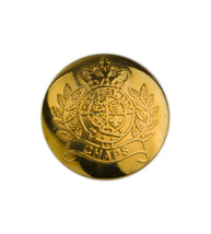 "Ralph Lauren Chaps Crown gold tone metal Replacement Sleeve pocket button .60"" - $3.51"