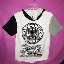 NWT Akademiks Hoodie Pullover Shirt Black White Gray Boy's Sz 10-12 Cott... - $21.77