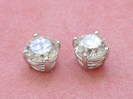 3.0 ctw BRILLIANT DIAMOND STUD EARRINGS 4 prong white 14K baskets GIA certs - $21,680.01