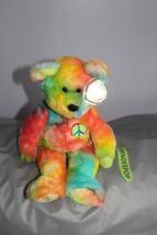 """TY Retired Beanie Buddies Collection 13"""" Large Peace Bear 1999 image 4"""
