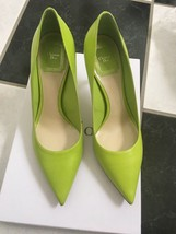 NIB 100% AUTH Christian Dior Cherie Fluo Green Leather Pointy Pumps 8CM ... - $398.00