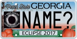Solar eclipse 2017 Georgia custom personalized souvenir license plate - $8.99