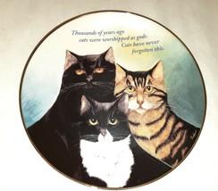 Cattitude Maren Schaffer Danbury Mint Coll Plate  It's a Cat's World Series - $59.39