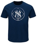 MLB New York Yankees Men's Navy Short Sleeve Crew Neck Glory Fever Tee T... - $15.95