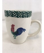 Thomson Pottery Hand Painted Rooster Country Farm 8 oz Coffee Mug Cup - $18.81