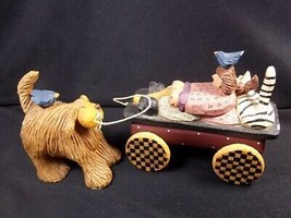 Williraye Studio old lady with cat & bird in wagon pulled by dog WW2725 ... - $17.37
