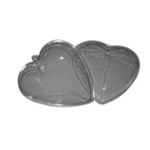 "2 Clear Plastic Ball Heart  fillable Ornament favor 3"" - $2.97"