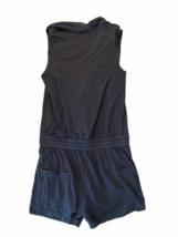 Helmut Lang Women Gray Sleeveless Summer Romper Shorts Size Small image 5