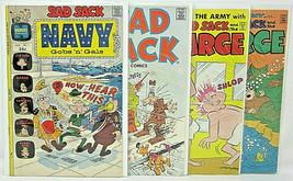 Harvey Comics Sad Sack Navy Gobs n Gals 1 Sad Sack Comics 223 and Sarge 120, 133 - $12.19