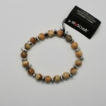 SILVER 925 BRACELET WITH HEMATITE AND JASPER BWI-3 MADE IN ITALY BY MASCHIA image 2
