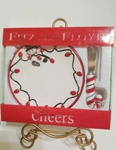 Snowman Snack Plate with Spreader, Cheers by Fitz and Floyd, 78/336, LN ... - $12.99