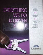 1994 Ford Electronics Brochure Audio Systems Cellular Phones Safety Control - $12.64
