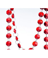 5M Red Crystal Glass Strand Garland Chains Wedding Home Decoration Party Supply - $23.89