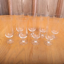 8 Vintage Glass Tall Goblets - $28.04