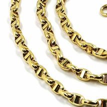 9K YELLOW GOLD NAUTICAL MARINER CHAIN OVALS 3.5 MM THICKNESS, 20 INCHES, 50 CM image 3