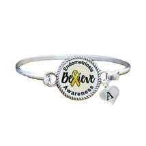 Custom Endometriosis Awareness Believe Silver Bracelet Jewelry Choose In... - $13.80+