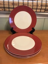 """Set of 4 Pagnossin Treviso Dinner Plates Rust 10 5/8"""" Made in Italy LC02 - $29.99"""