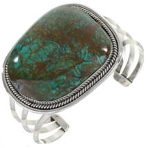 Turquoise Single Stone Bracelet Bold Navajo Cuff - $780.00