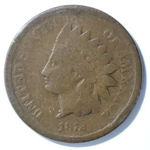 1872 Indian Head Cent Penny Coin Lot# E 194