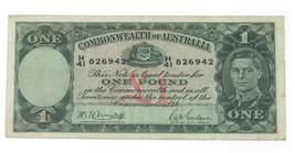 1942 Australia un Banconota Sterlina in Molto Sottile Condizioni! P.26 - $124.00