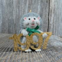 Vintage Gray Hedgehog Hallmark Keepsake Christmas Ornament 1997 Fabulous... - $29.99