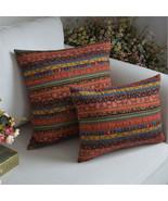 Cotton Linen Throw Pillowcase National Style Car Sofa Cushion Cover Home... - $7.24+