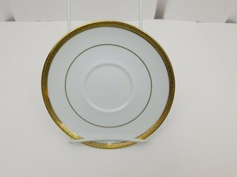 "Charter Club Home Grand Buffet Gold Saucers Lot of 2 White Gold Trim 6 1/2"" - $15.47"