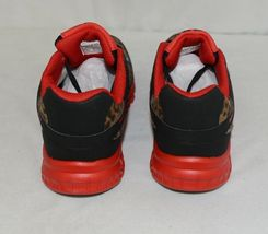 Crazy Train RUNWILD14 Black Red Cheetah Sneakers Size Ten image 4