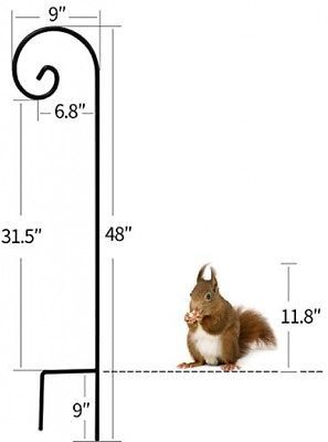 Shepherd Hook 48 Inch 2 Pack 2//5 Inch Thick Heavy Duty Rust Resistant Garden Out
