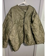Military Coat Liner, M65 Quilted Foliage Green Cold Weather Field Jacket... - $18.69