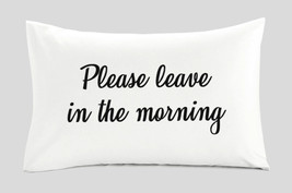 Funny Pillow Case Cover for Guests 100% Cotton Standard Queen Size 20x30... - $7.99