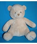"""FAO TEDDY BEAR 12"""" BABY Boy Beige Plush Toys R Us Sewn Eye Nose Stuffed ... - $17.30"""