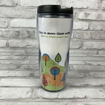 Starbucks 2008 Tumbler Travel Mug Fall Leaves Trees Theme 16 Oz - $15.59