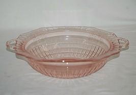 """Old Vintage Mayfair Pink Depression Anchor Hocking 10"""" Vegetable Bowl Open Rose - $29.69"""