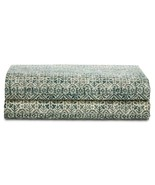 Ralph Lauren Notting Hill Eaton Green/Multi Fitted Sheet California King - $117.00