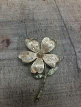 JJ Signed flower Brooch Gold Tone Jonette Jewelry Vegetable Garden Vintage - $11.88