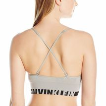 Calvin Klein Gray Seamless Logo Longline Multiway Sports Bra Bralette XS thru XL image 3