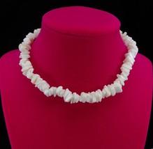 White Puka Shell Necklace Choker Jewelry Gift Collectible - $4.80